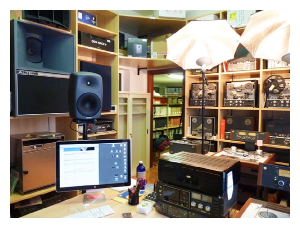 (b) The audio laboratory in the archive