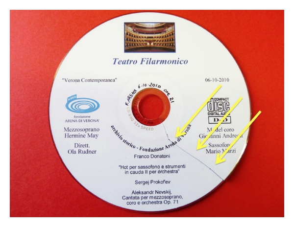 (b) Cracked Compact Disc