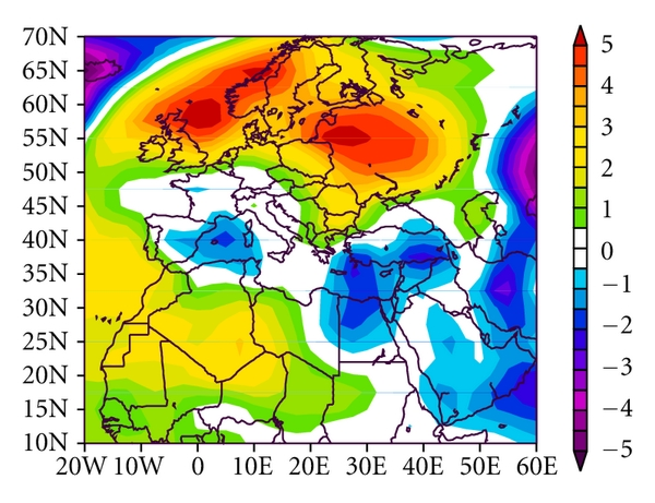 (d) Sea Level Pressure (mb) Composite Anomaly (1981–2010 Climatology) 6/25/06 to 6/29/06 NCEP/NCAR Reanalysis