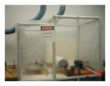 (a) Electrospinning station