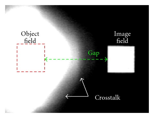 (c) Image of the detected test image in the labor setup (see Figure 5(b)) (detection path).