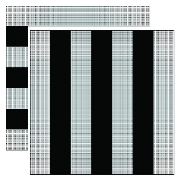 (b) Exemplary fringe pattern images, in horizonal and vertical orientation.