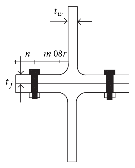 (a) Two bolted T-stubs