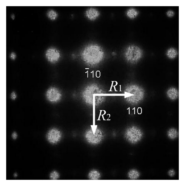 (a) Electron diffraction pattern