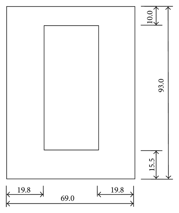 (a) Geometric dimensions of the steel plate
