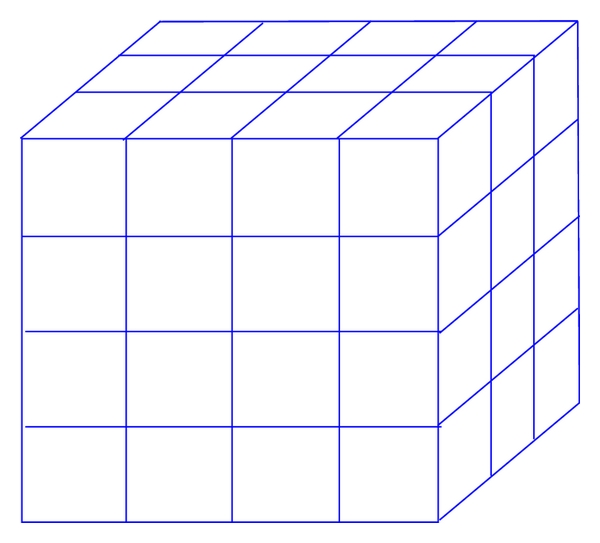 (a) Cube cells of three-dimensional problems