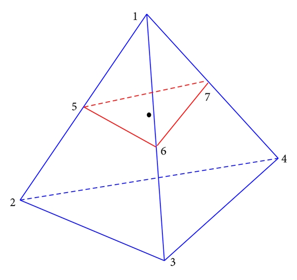 (a) Case 1: The interface segment is a triangle