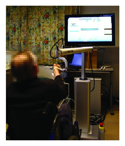 (b) The patient's training was adapted to a higher difficulty level