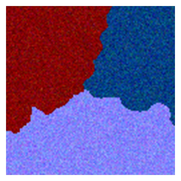 (a) Simulated noised experimental images