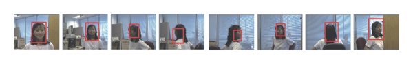(c) Application of ASVM and visual saliency feature tracking algorithm results