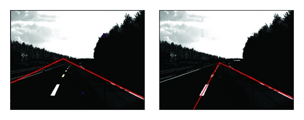 (c) Detection result when vehicle lane exchanging