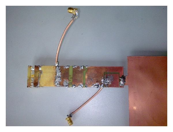 (c) Bottom view of the MIMO antenna