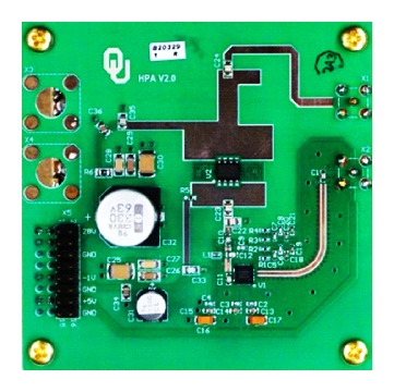 (c) The GaN HPA board. NPT25015 transistor from NITRONEX is used