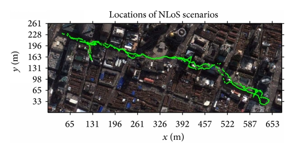 (b) Locations where NLoS channels are observed