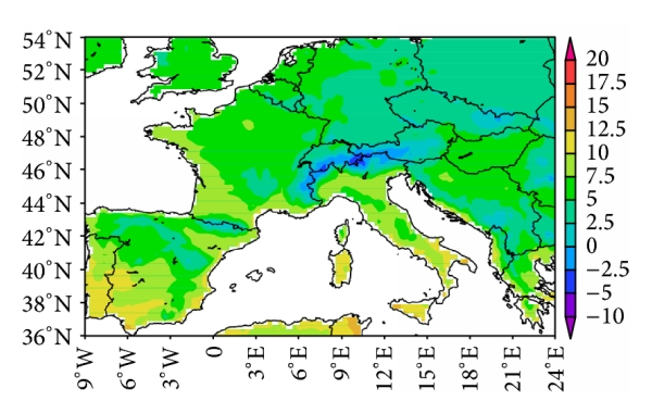 (a) Mean for 60-year daily minimum temperature (OBS)