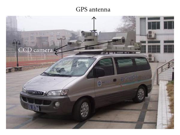 (a) The appearance of vehicle-borne mobile mapping system