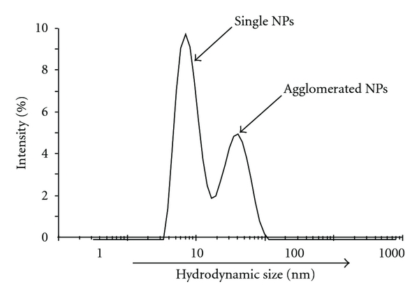 (c) SiO2 NPs in water