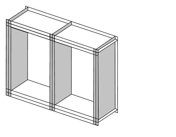 (b) 3 SE2's are used for modeling the vertical frames