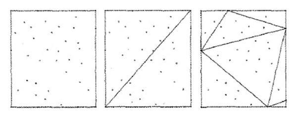 (a) Initial construction of   -triangulation