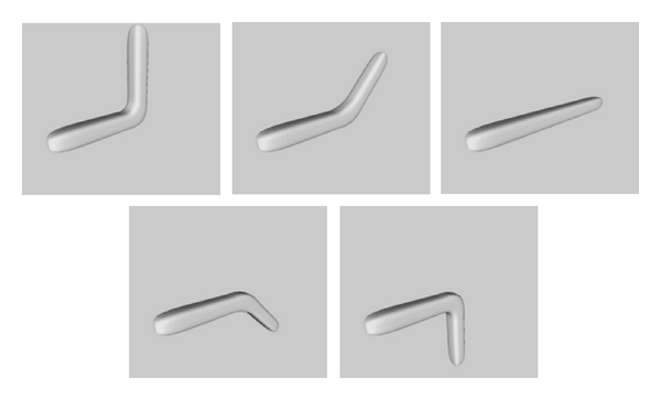 (a) An animation model with five frame examples