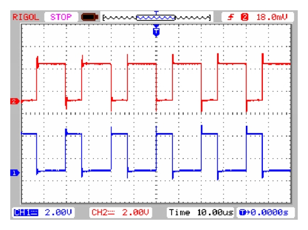 (a) Driving signals for     and     from DSP