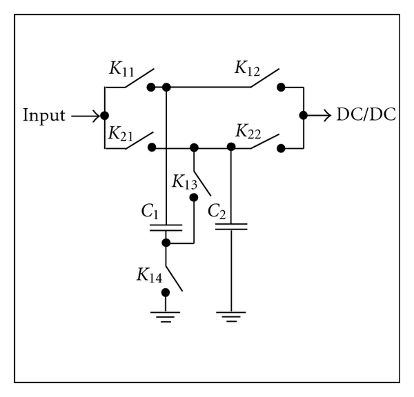 (a) Circuit for 2 capacitors