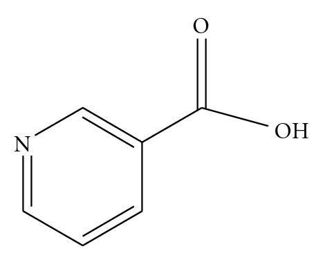 (b) Structure of nicotinic acid or niacin (pyridine-3-carboxylic acid)