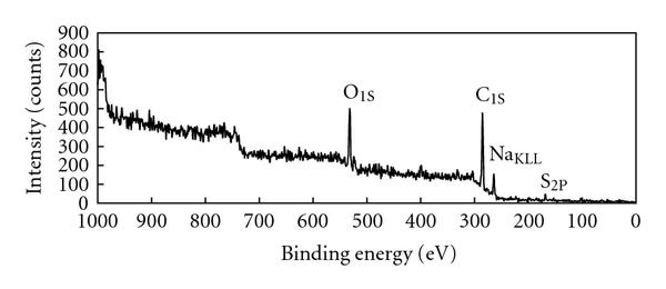 (c) The wide scan for PPy-PVS reduced film at the electrolyte side