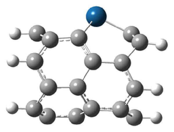 (b) Side view perpendicular to the nanotube axis