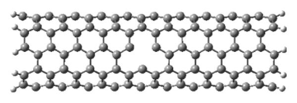 (a) Single vacancy by removal of C atom