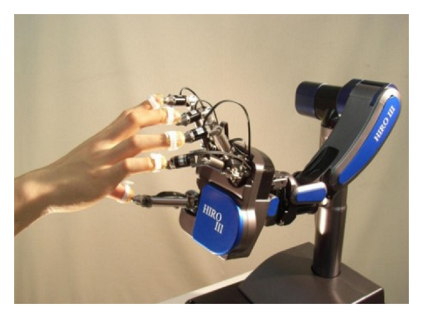 (a) The haptic interface: HIRO III overview with arm