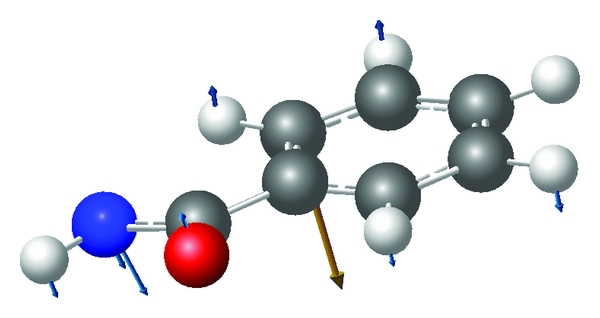 (a) 57cm−1 for benzamide