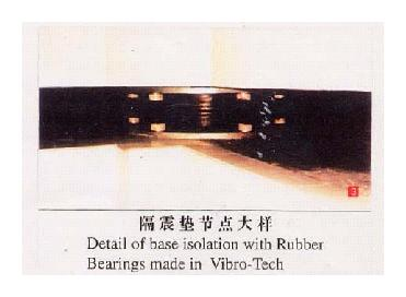 (c) Details of rubber bearing