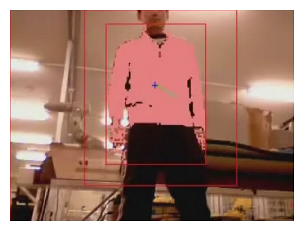 (b) Selecting and tracking the colour filter segment red