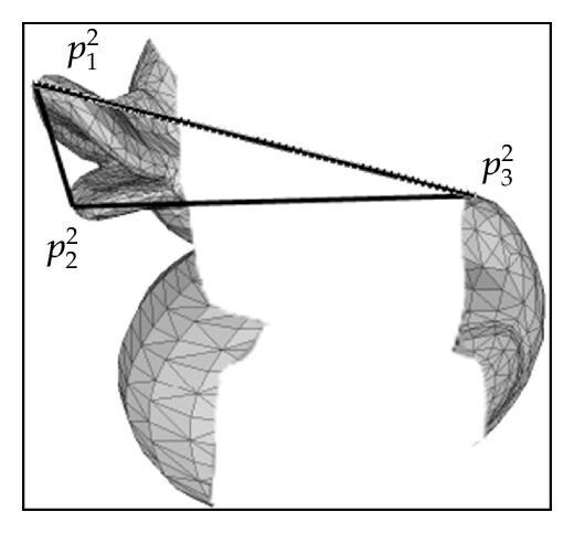 (b) Optimal triangle in occluded object