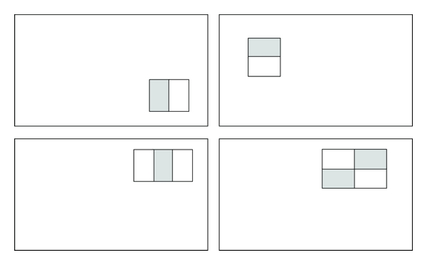 (a) Four types of basic rectangle features proposed by Viola and Jones.