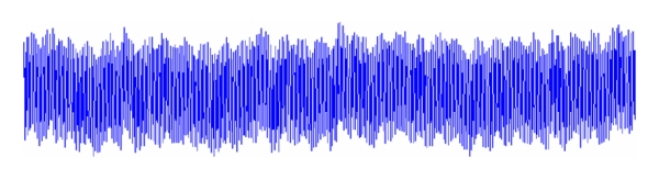 (b) EEG contaminated by power line noise interference