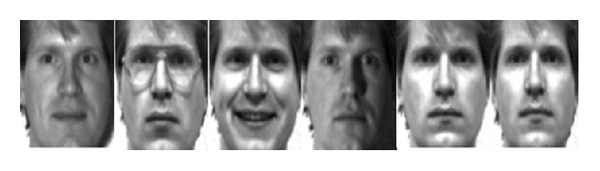 (a) Some images in Yale face database
