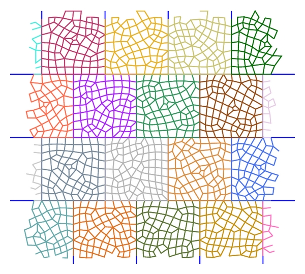 (b) Discretization of the lattice cell using a fine unstructured grid as proposed in this work