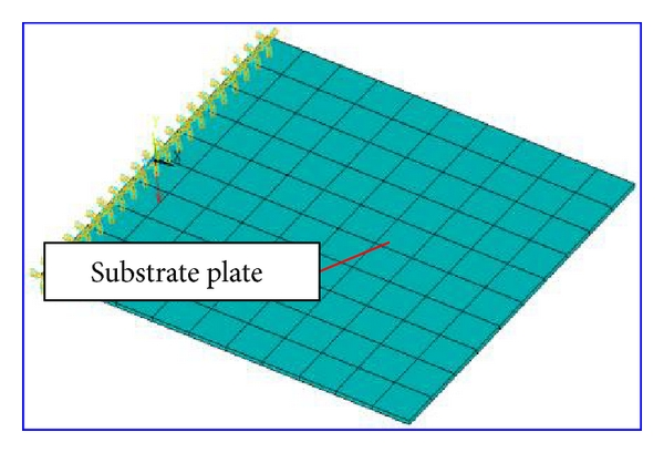 (a) Uncoated plate model