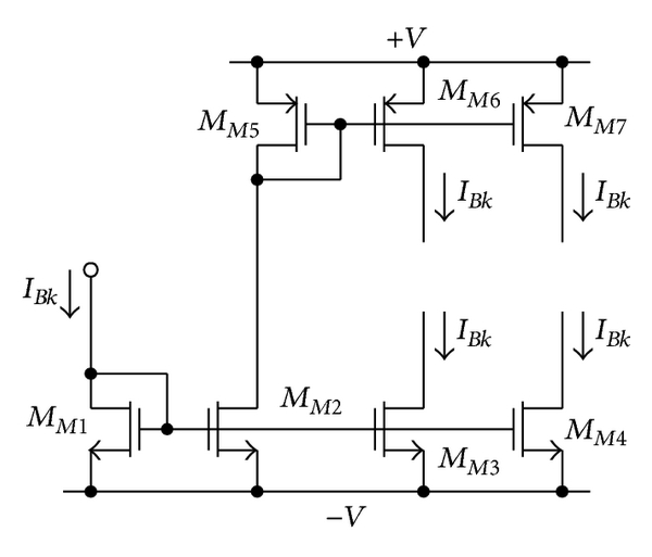 (c) Simple current mirror used for realizing bias currents