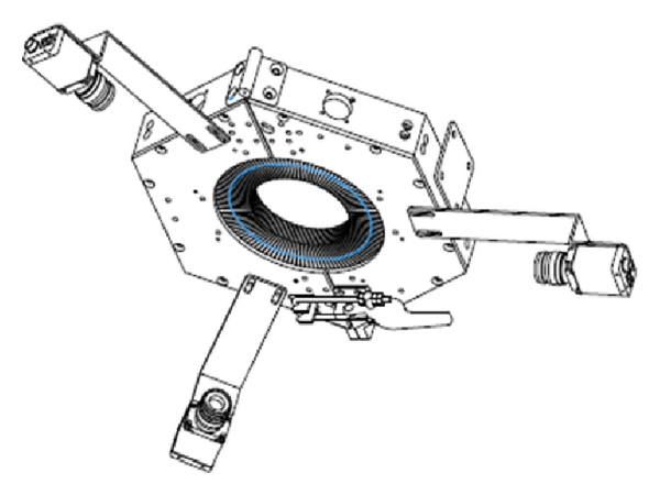 (a) Three cameras in the image processing-based sensing module