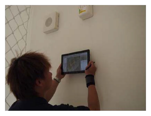(a) FM staff scanned the QR code and accessed BIM model of facility