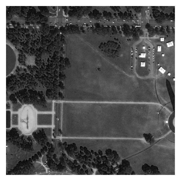 (a) Original remote sensing image; its size is