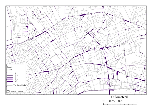 (b) A network representation of cycling accidents