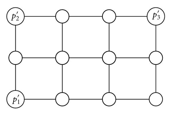 (b) The 2-dimensional plan view projection of the grid