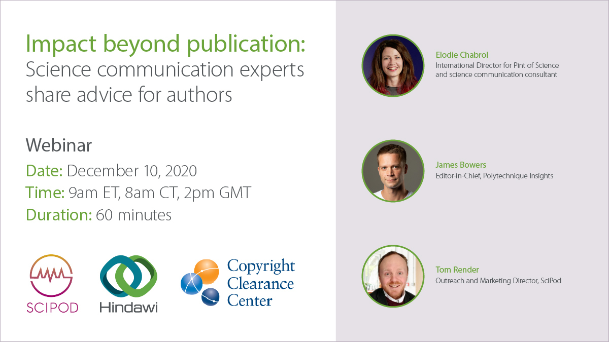 Webinar: Impact beyond publication