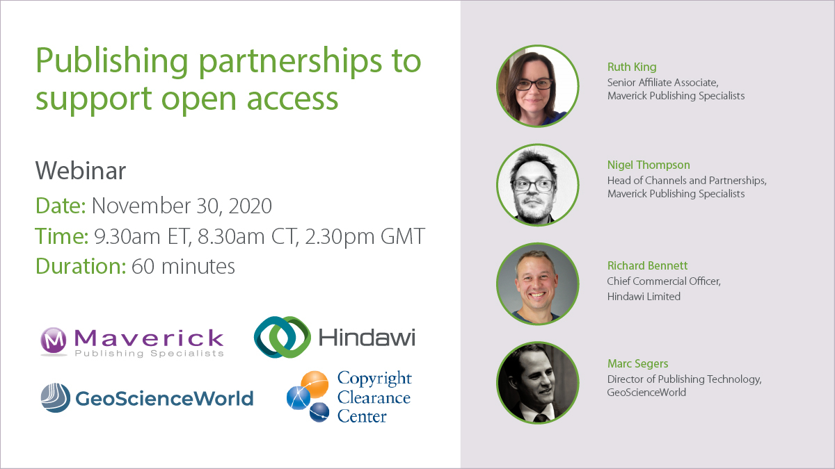 Webinar: Publishing partnerships to support open access