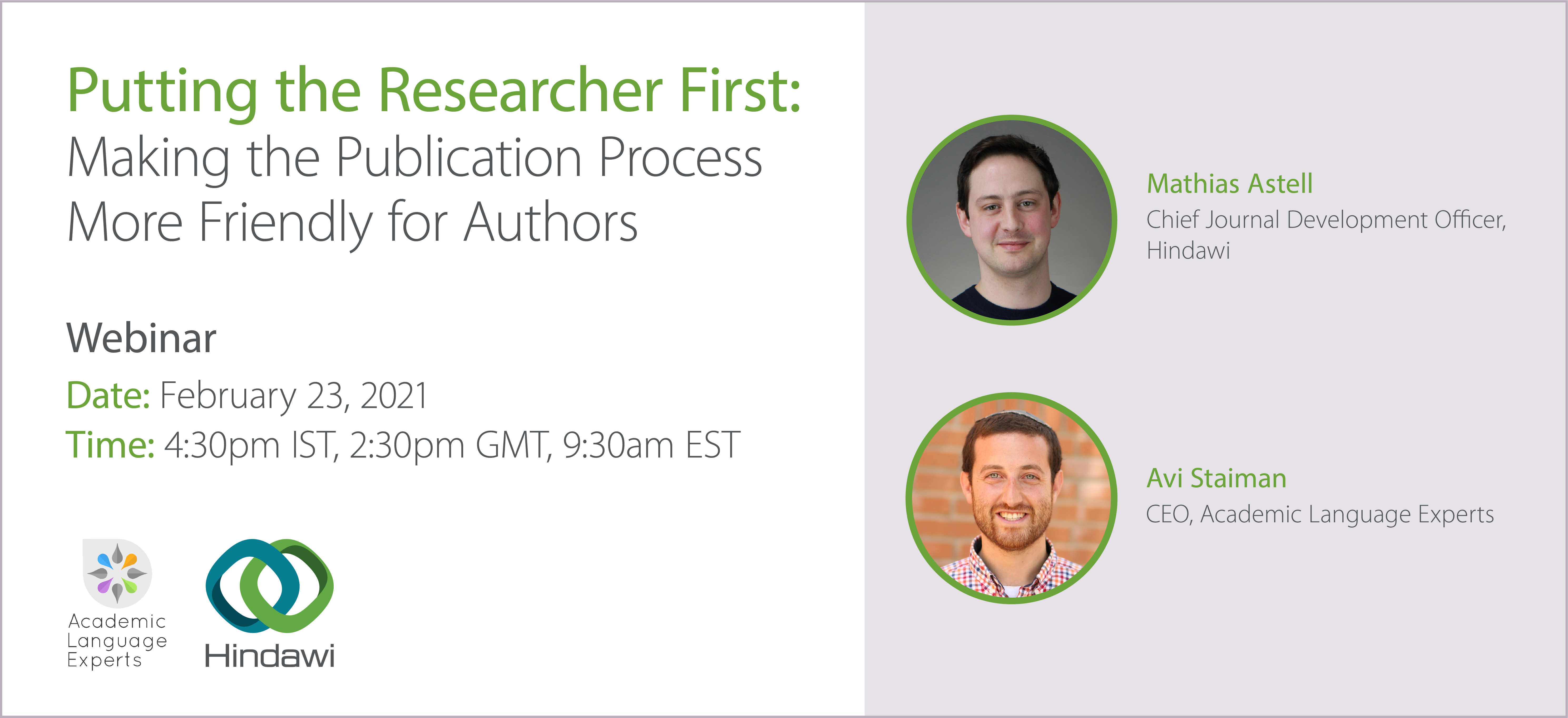 Webinar: Making the publication process more friendly for authors