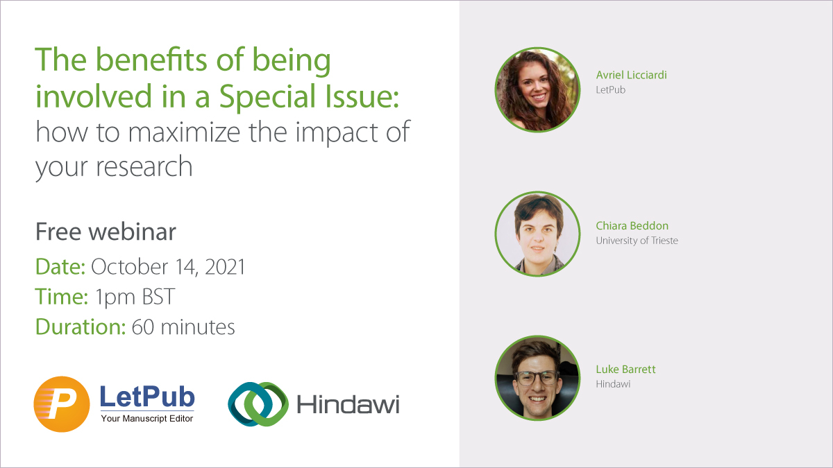 Webinar: Benefits of being involved in a Special Issue